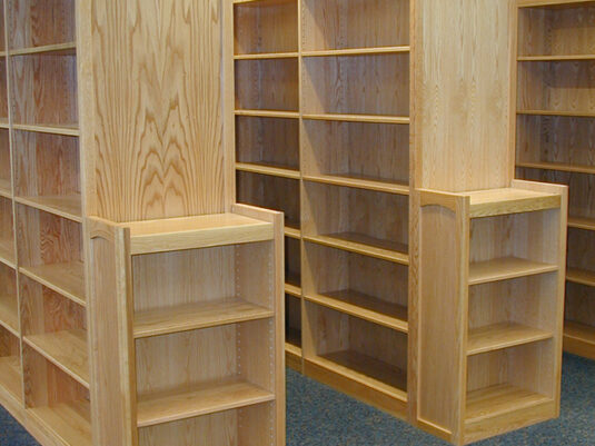 CommCab Library Casework Holidaysburg High School Custom End Panels