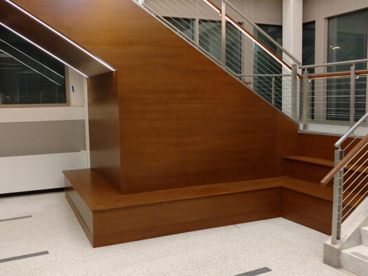 CommCab Millwork West Chester University Monumental Stairs and Seating
