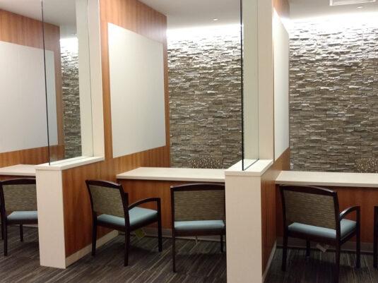 CommCab Millwork Crozer Keystone Reception With Privacy Glass
