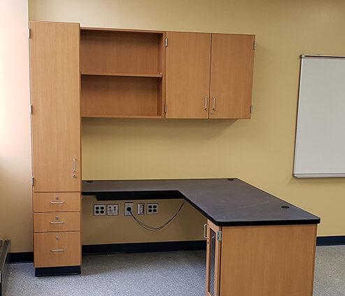 CommCab Plastic Laminate Casework Chesapeake Bay MS Teachers Desk