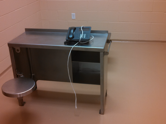 CommCab Stainless Furniture Army Corp of Engineers, Boarder Patrol Interrogation Desk