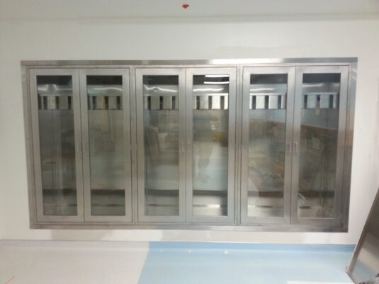 CommCab Stainless FurnitureP HILA VA Interventional Custom Radiology Scope Cabinets