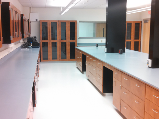 CommCabSteelCasework CommCabSteelCaseworkNJ State Police CODIS LAB, Steel Casework with Wood Door and Drawer Fronts