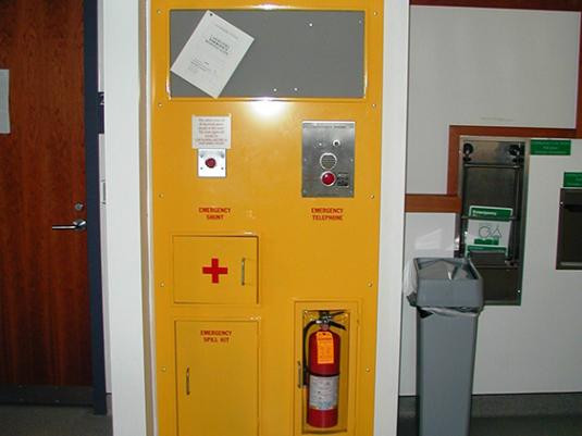 CommCab Steel Laboratory CaseworkCustom Emergency Station