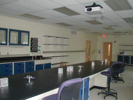 CommCab Steel Laboratory Casework Saint Josephs University Lab 1.