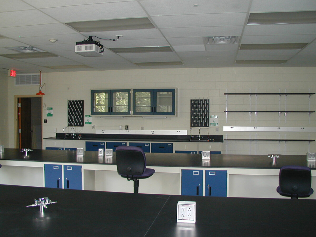 CommCab Steel Laboratory Casework Saint Josephs University Lab 3