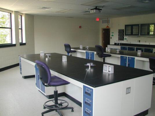 CommCab Steel Laboratory Casework Saint Josephs University Lab 2
