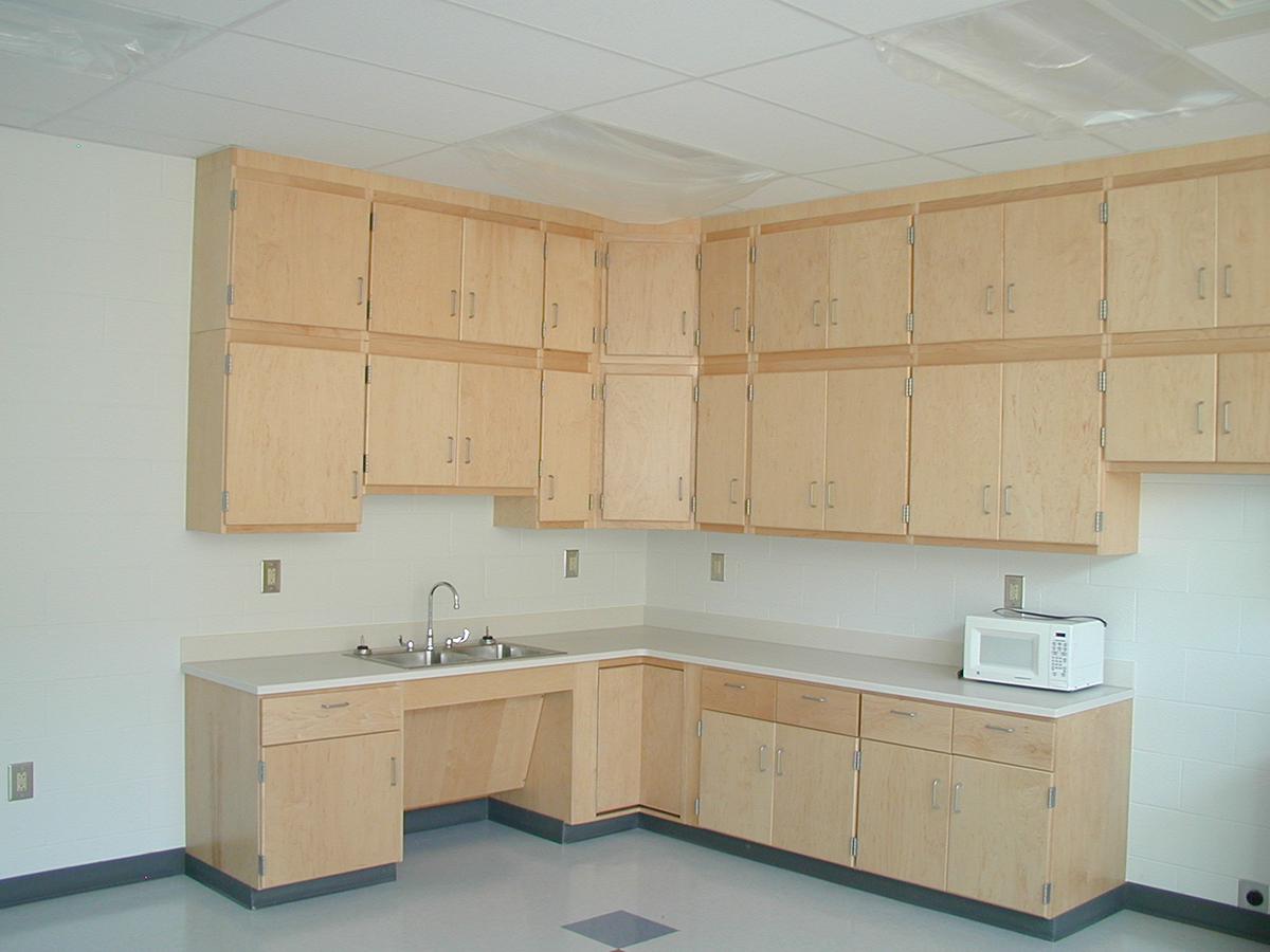 CommCab Wood Casework Conewago Elementary Food Lab