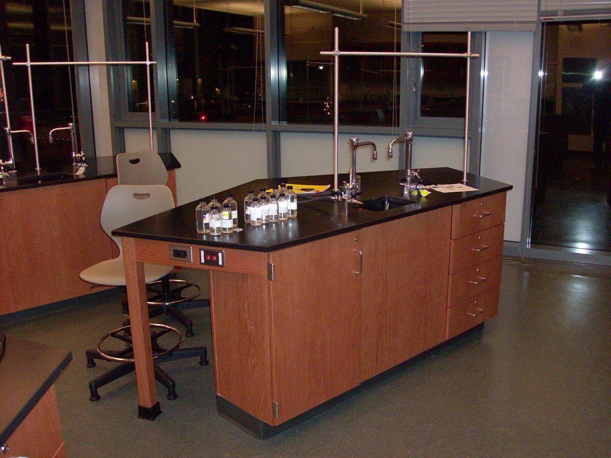 CommCab Wood Casework Haverford School Bio Labs