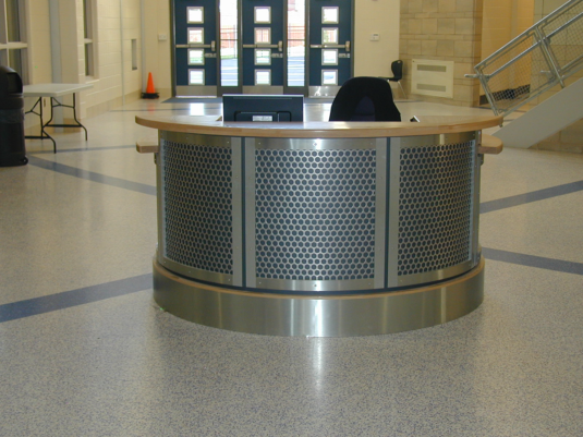 CommCab Millwork School Security Desk
